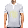 Black cat in the moon Mens Polo