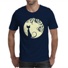 Black cat in the moon Mens T-Shirt