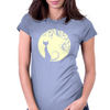 Black cat in the moon Womens Fitted T-Shirt