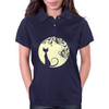 Black cat in the moon Womens Polo