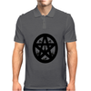 Black Cats on a Pentacle Mens Polo