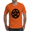 Black Cats on a Pentacle Mens T-Shirt