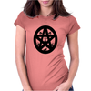 Black Cats on a Pentacle Womens Fitted T-Shirt