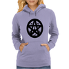 Black Cats on a Pentacle Womens Hoodie