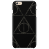 Black Filigree Deathly Hallows Phone Case