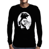 Black Grey Mens Long Sleeve T-Shirt