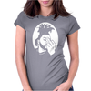 Black Grey Womens Fitted T-Shirt