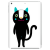 black happy happy cat with long tail Tablet (vertical)