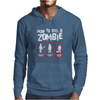 Black How To Kill A Zombie Mens Hoodie