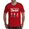 Black How To Kill A Zombie Mens T-Shirt