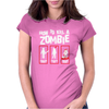 Black How To Kill A Zombie Womens Fitted T-Shirt