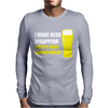 Black I Make Beer Disappear Mens Long Sleeve T-Shirt
