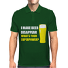 Black I Make Beer Disappear Mens Polo