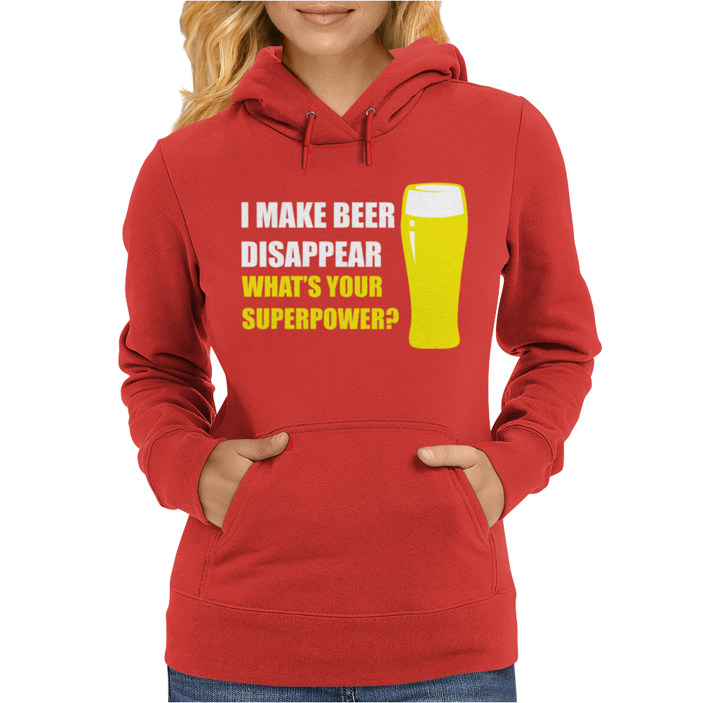 Black I Make Beer Disappear Womens Hoodie