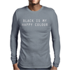 BLACK IS MY HAPPY COLOUR RINGER Mens Long Sleeve T-Shirt