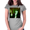 Black Jezus 2 judas green Womens Fitted T-Shirt