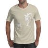 Black Kitten & Astronaut Mens T-Shirt