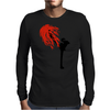 Black Leg Mens Long Sleeve T-Shirt