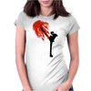 Black Leg Womens Fitted T-Shirt