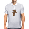 Black Metal Teddy Bear Mens Polo