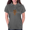 Black Metal Teddy Bear Womens Polo