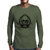 Black Skull Spade Mens Long Sleeve T-Shirt
