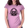 Black Skull Spade Womens Fitted T-Shirt