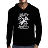 Black Soft Kitty Mens Hoodie