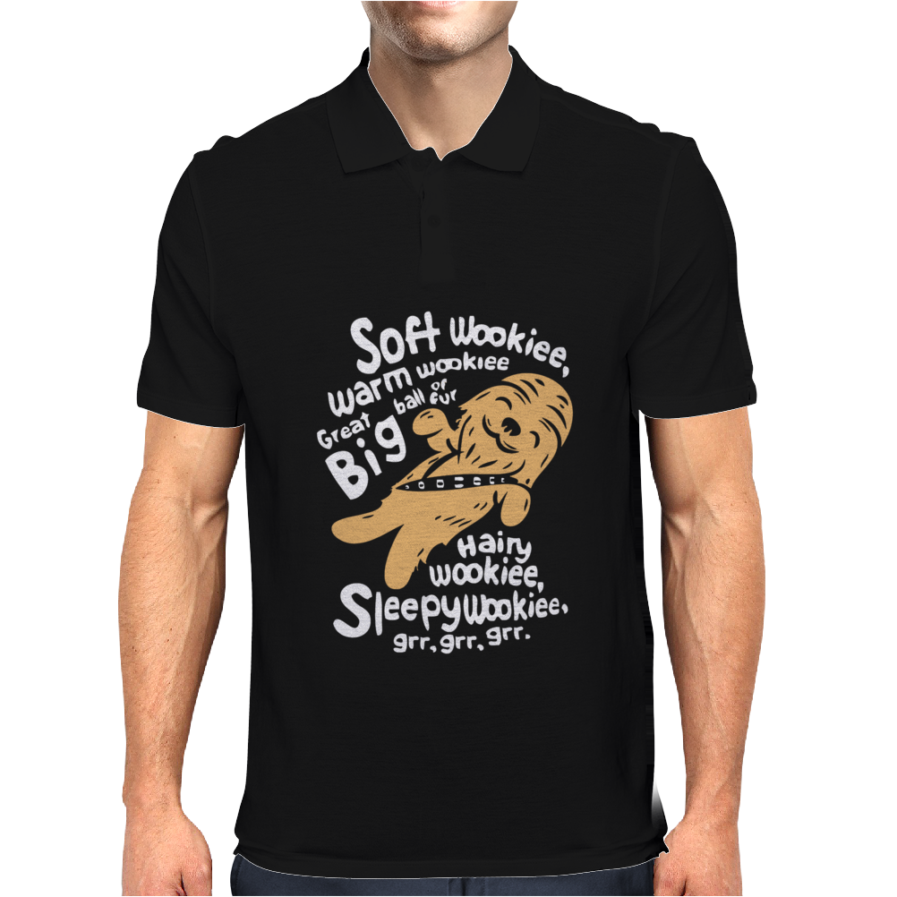 Black Soft Wookie Mens Polo