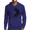 Black Sunflower Mens Hoodie