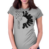 Black Sunflower Womens Fitted T-Shirt