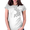 Black-Sunflower Womens Fitted T-Shirt