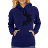 Black Sunflower Womens Hoodie