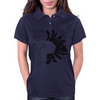 Black Sunflower Womens Polo