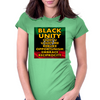 Black Unity (Atom of Life) Womens Fitted T-Shirt