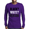 Black? White? Person Mens Long Sleeve T-Shirt