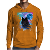 Black Wolf MidNight Forest 2 Mens Hoodie