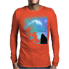 Black Wolf MidNight Forest 2 Mens Long Sleeve T-Shirt