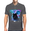 Black Wolf MidNight Forest 2 Mens Polo