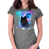 Black Wolf MidNight Forest 2 Womens Fitted T-Shirt