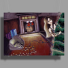 BLACK XMAS: Brighten up the Christmas lights by Rouble Rust Poster Print (Landscape)