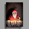 Black Xmas: Santa Claus is Here by Rouble Rust Poster Print (Portrait)