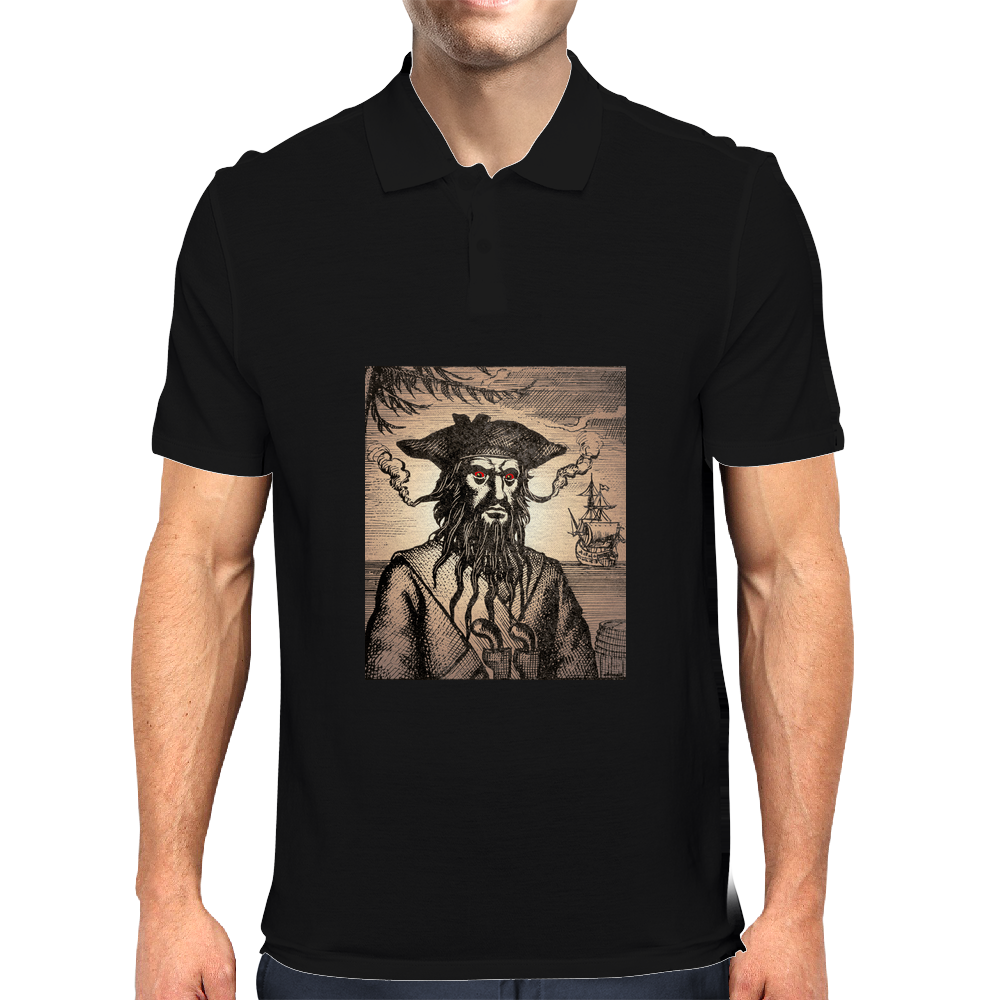 Blackbeard The Pirate Mens Polo