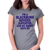 Blackburn Rovers Funny Womens Fitted T-Shirt