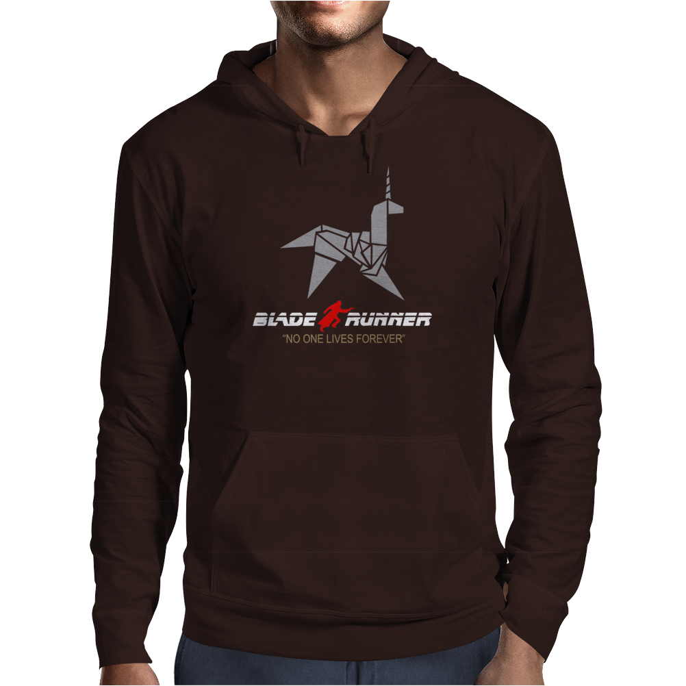 BLADE RUNNER ORIGAMI UNICORN - RETRO 80's CLASSIC SCI FI MOVIE Mens Hoodie