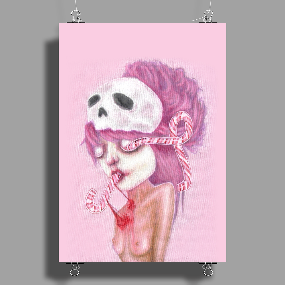 Bleeding to Pieces by Rouble Rust Poster Print (Portrait)
