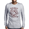 Blind Love Fire Heart Mens Long Sleeve T-Shirt