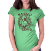 Blind Love Fire Heart Womens Fitted T-Shirt