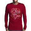 Bling In The New Year with Stars Mens Long Sleeve T-Shirt