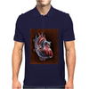 Blood Blow in Human Heart Mens Polo